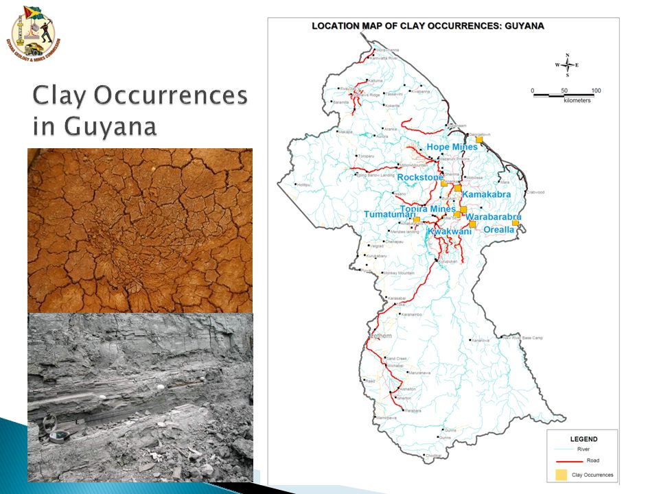 Clay Occurrences in Guyana