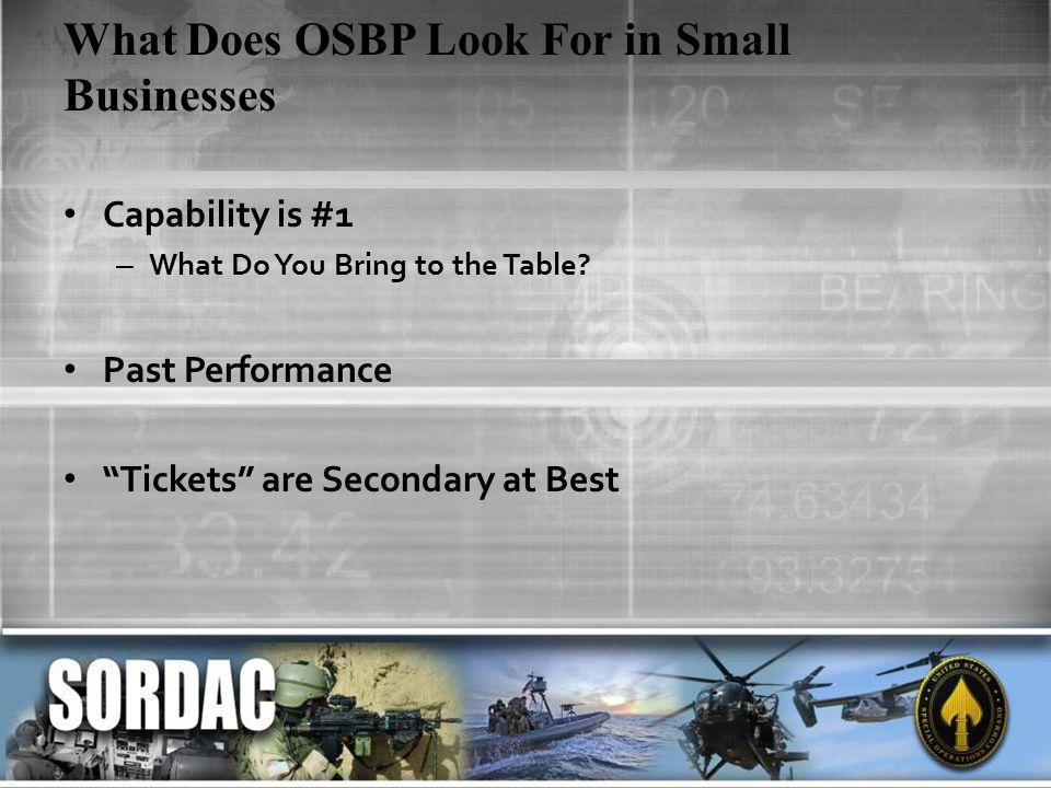 What Does OSBP Look For in Small Businesses