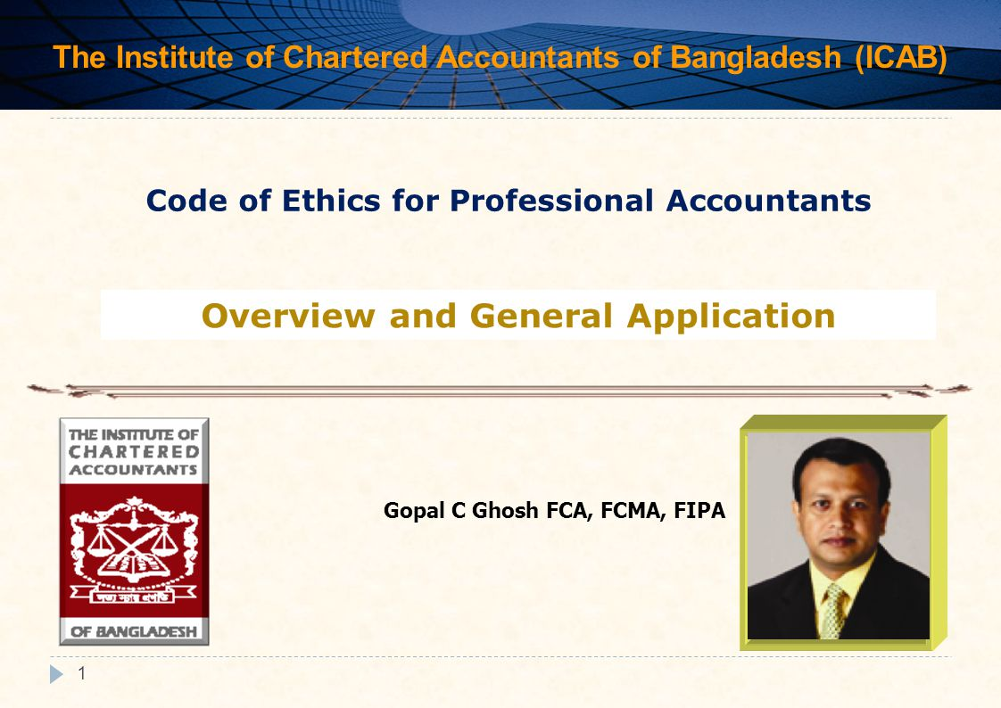 "code of ethics for professional accountants The cpa code of professional conduct (cpa code"") sets out the principles that  guide  new cpa code: changes from a public accounting perspective."