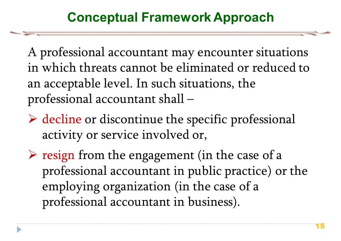 Conceptual Framework Approach