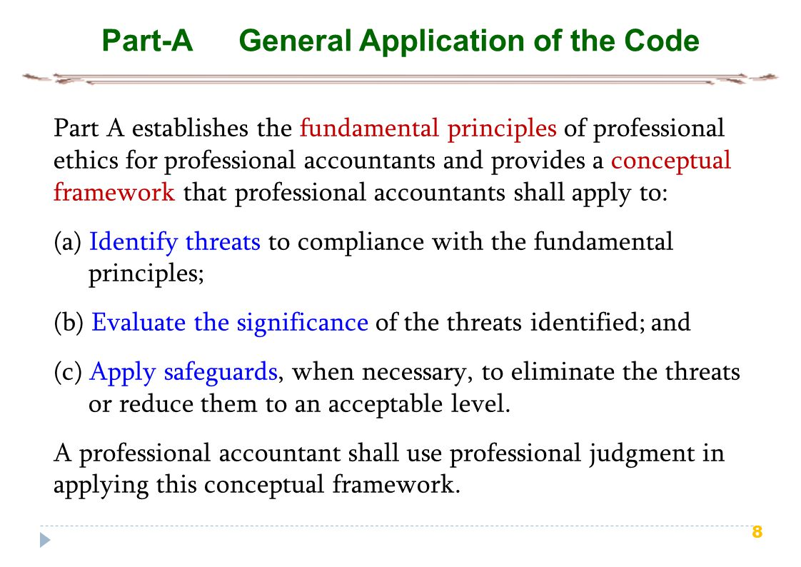 Part-A General Application of the Code