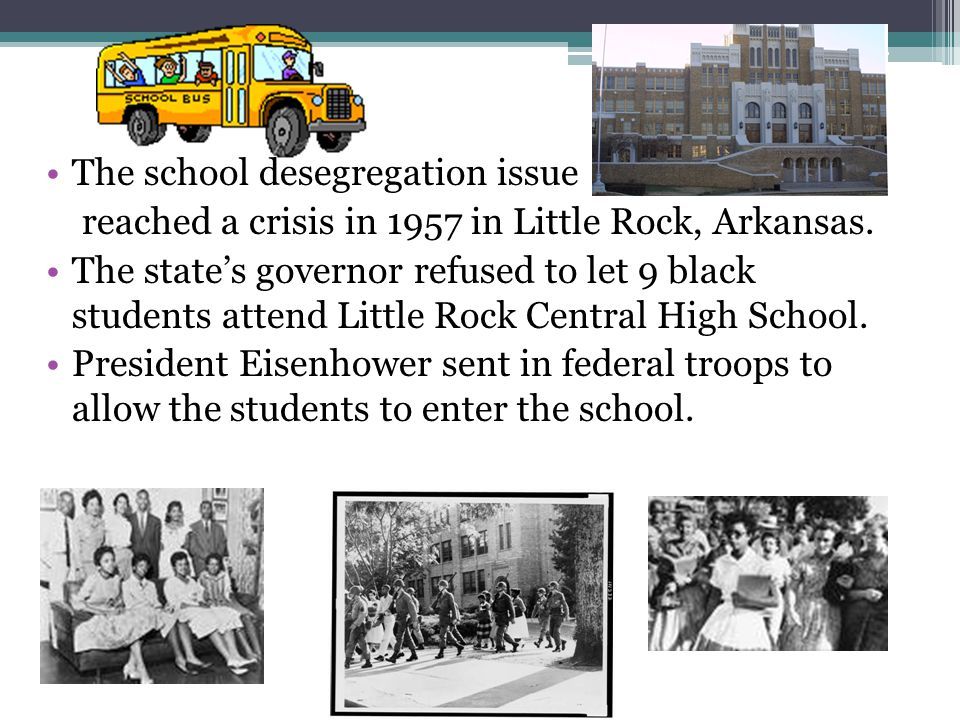 The school desegregation issue