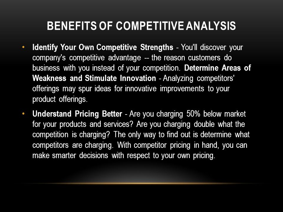 Benefits of Competitive Analysis