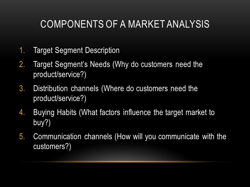 Components of a Market Analysis