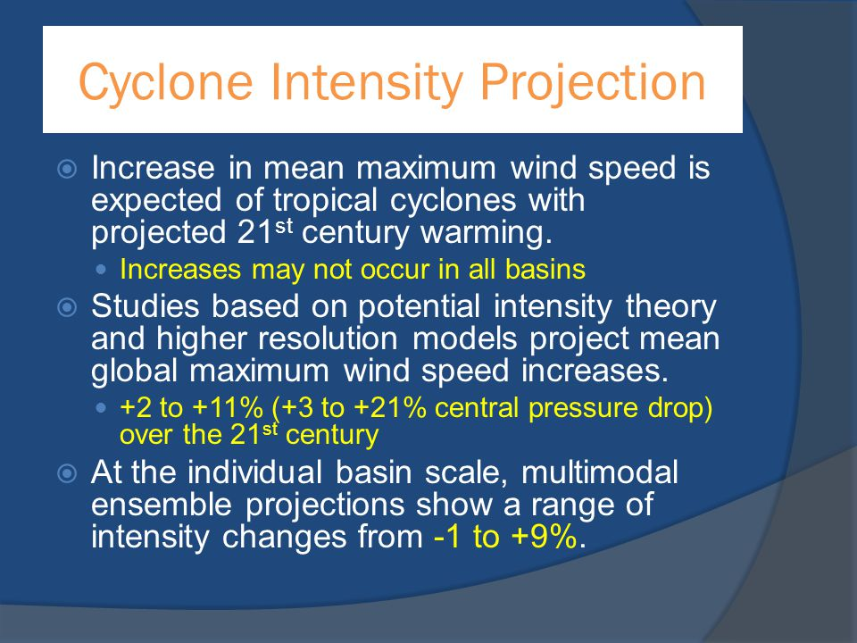 Cyclone Intensity Projection