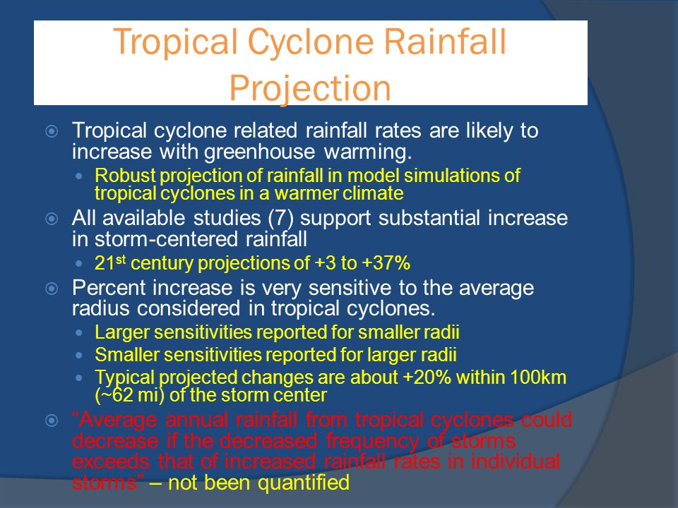 Tropical Cyclone Rainfall Projection