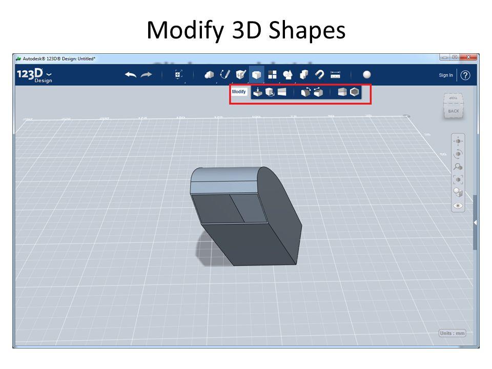 Modify 3D Shapes