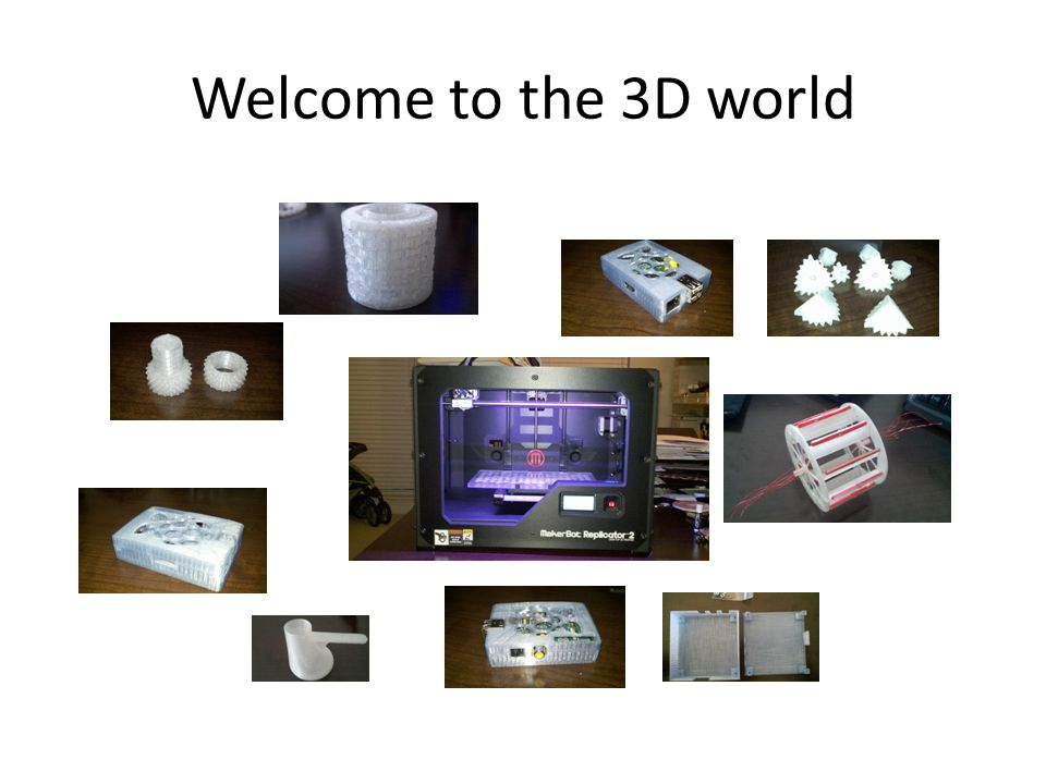 Welcome to the 3D world