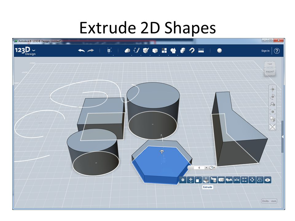 Extrude 2D Shapes