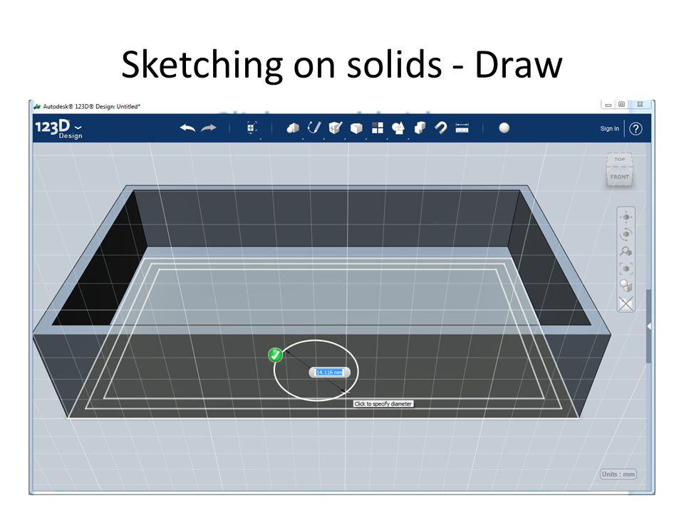 Sketching on solids - Draw