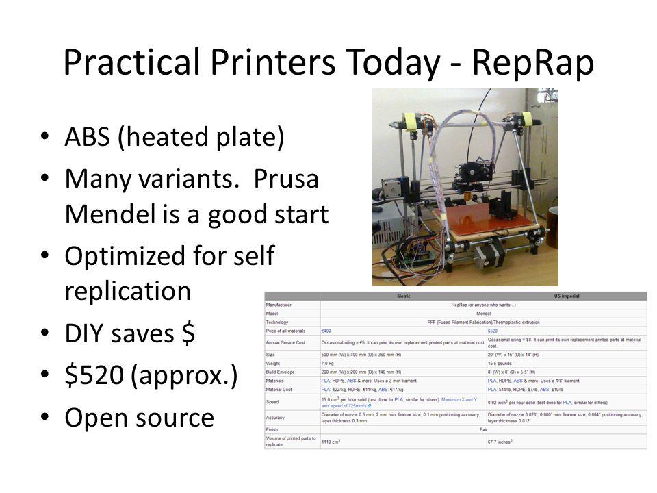Practical Printers Today - RepRap