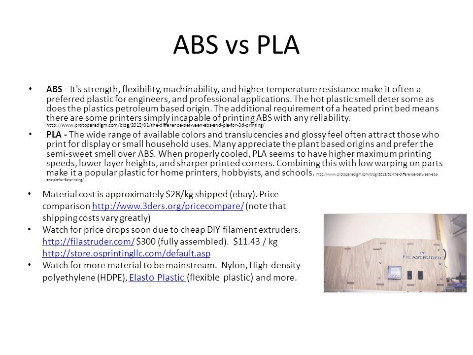 ABS vs PLA