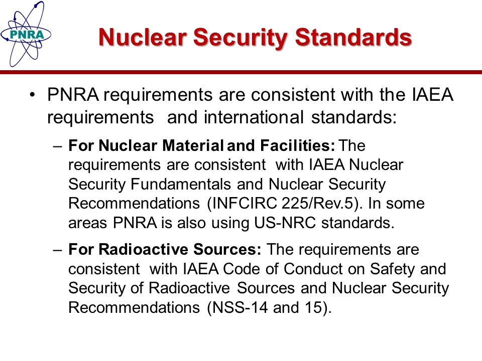 Nuclear Security Standards