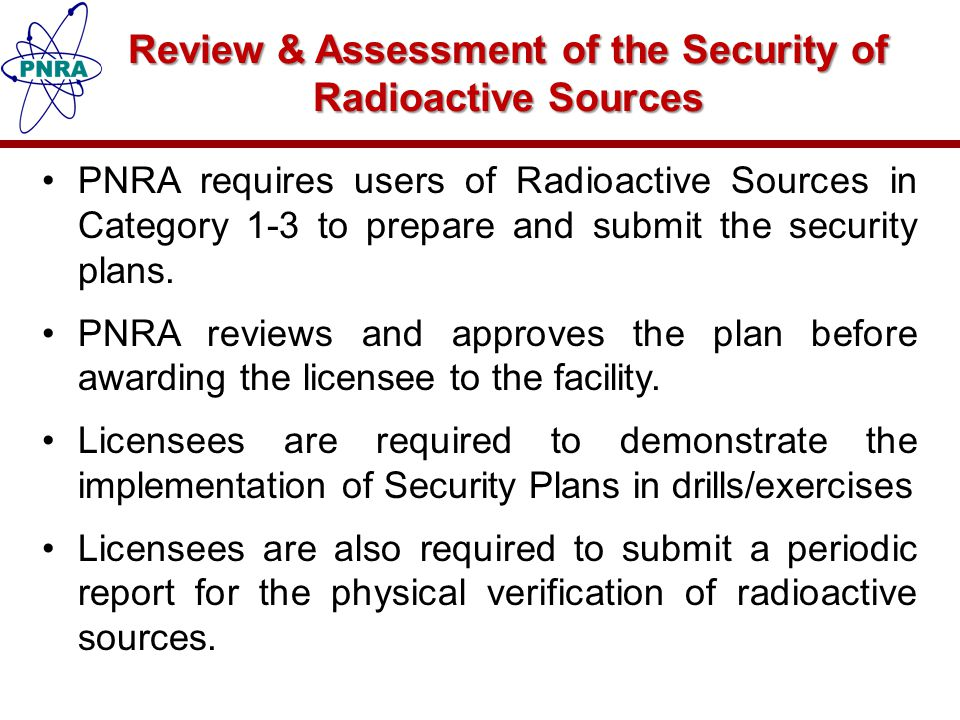 Review & Assessment of the Security of Radioactive Sources