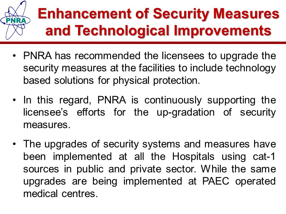 Enhancement of Security Measures and Technological Improvements