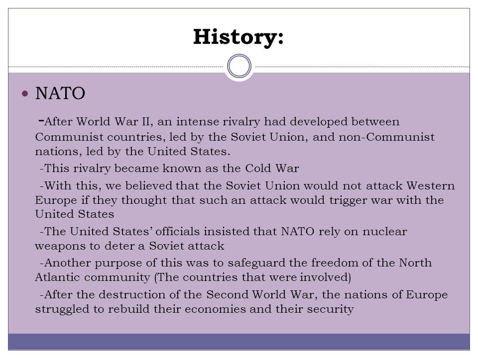 History: NATO.