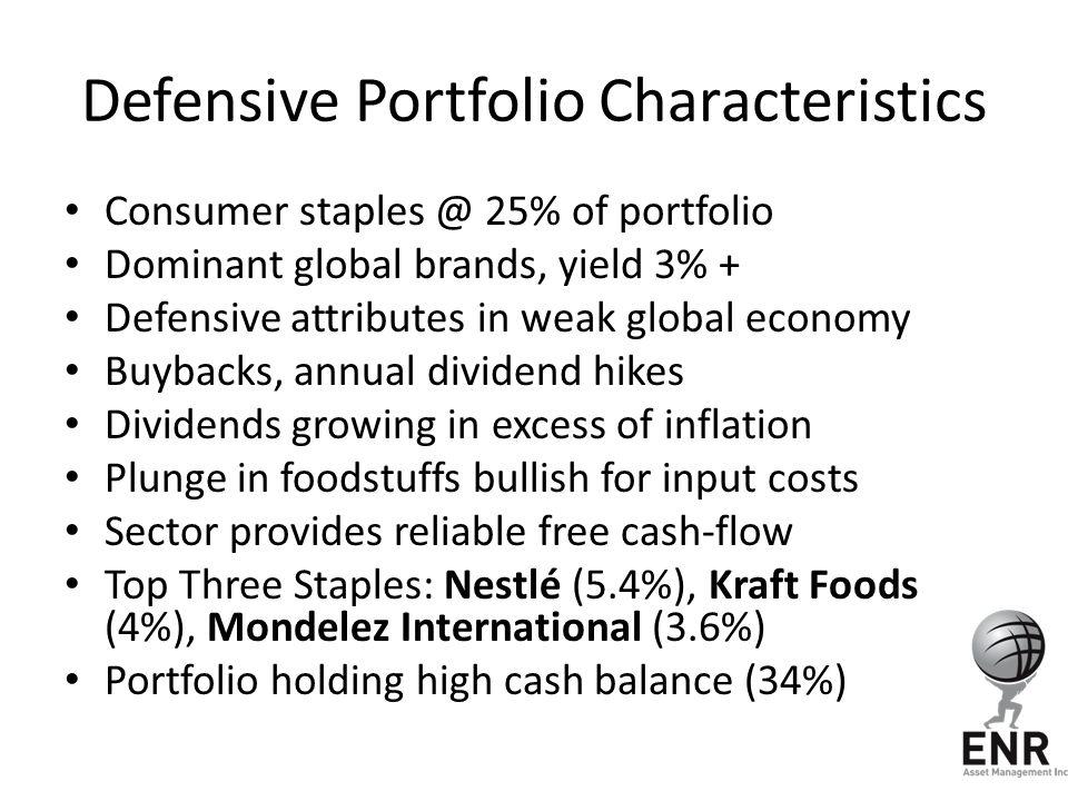 Defensive Portfolio Characteristics