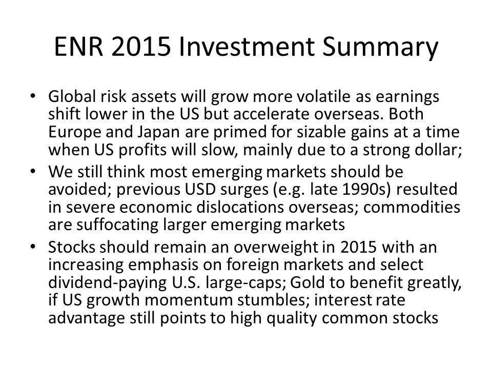 ENR 2015 Investment Summary