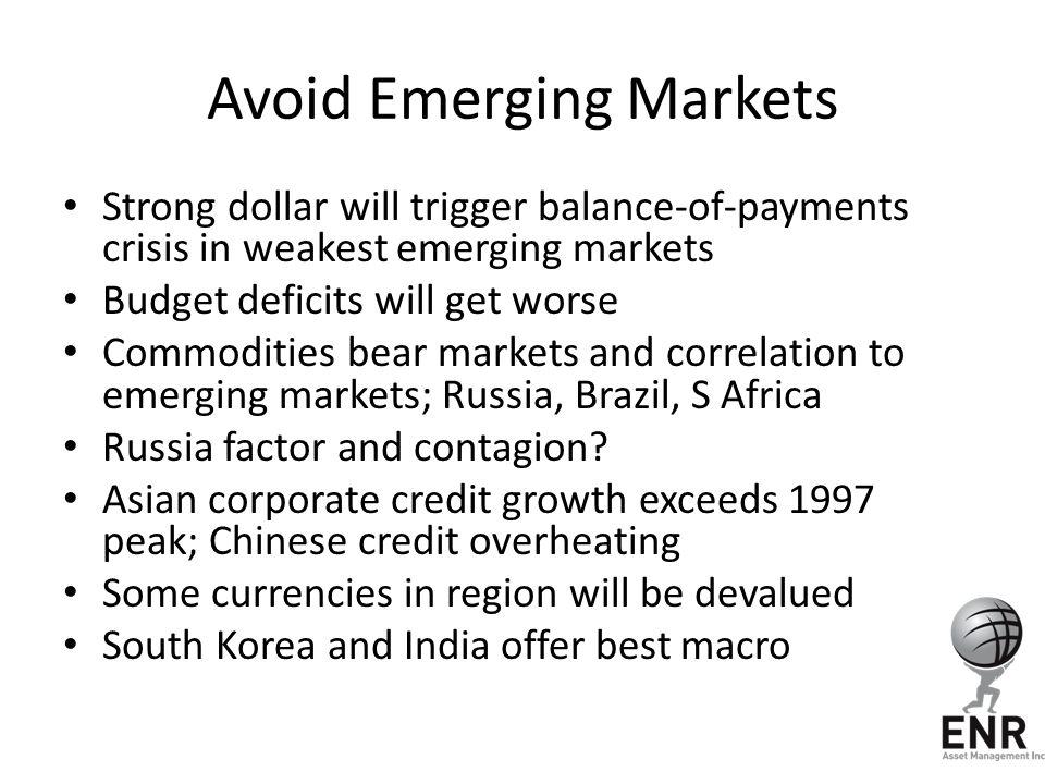 Avoid Emerging Markets
