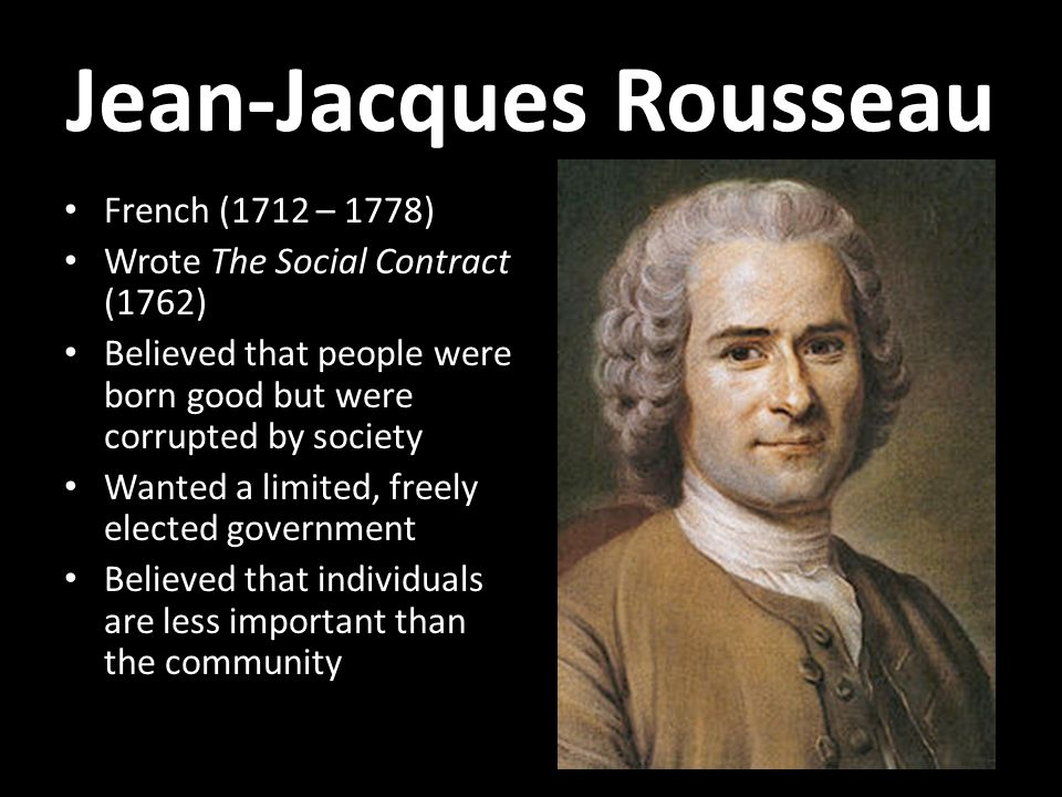 an overview of the government by jean jacques rousseau The social contract jean-jacques rousseau (1712 while simultaneously casting every other form of government as illegitimate and (summary by eric jonas.