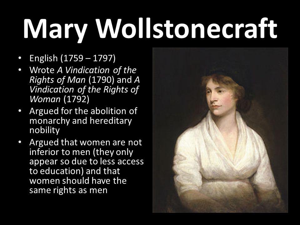 Mary Wollstonecraft English (1759 – 1797)