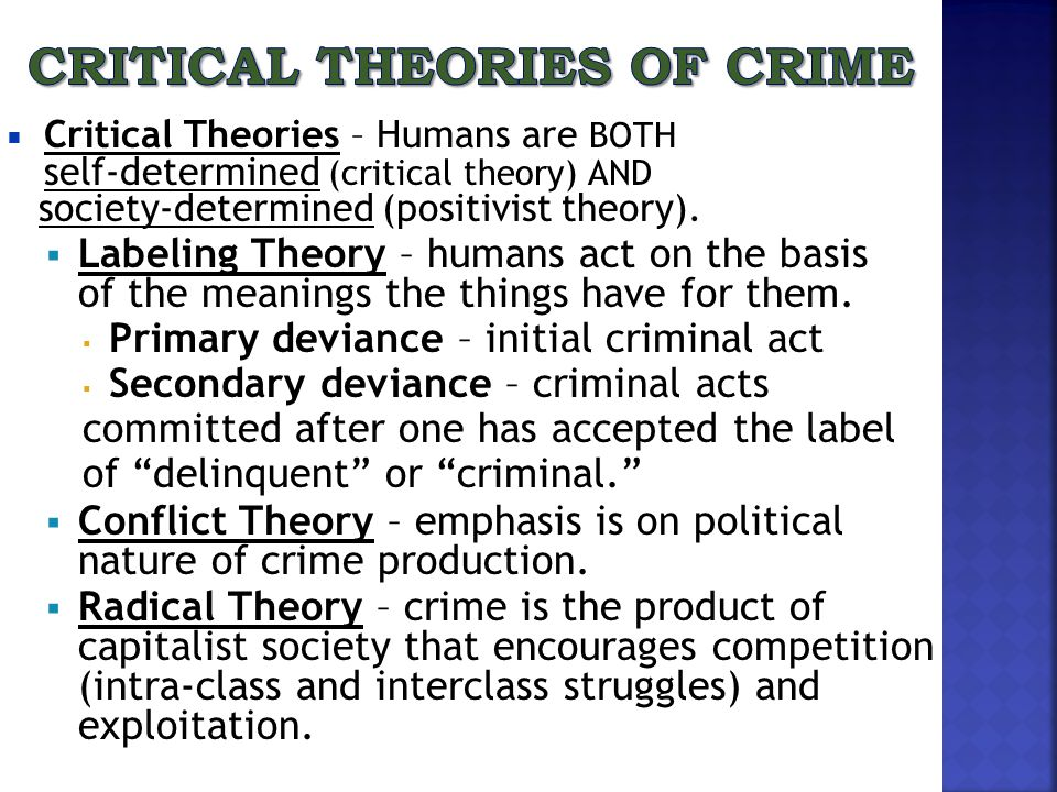 Critical Theories of Crime