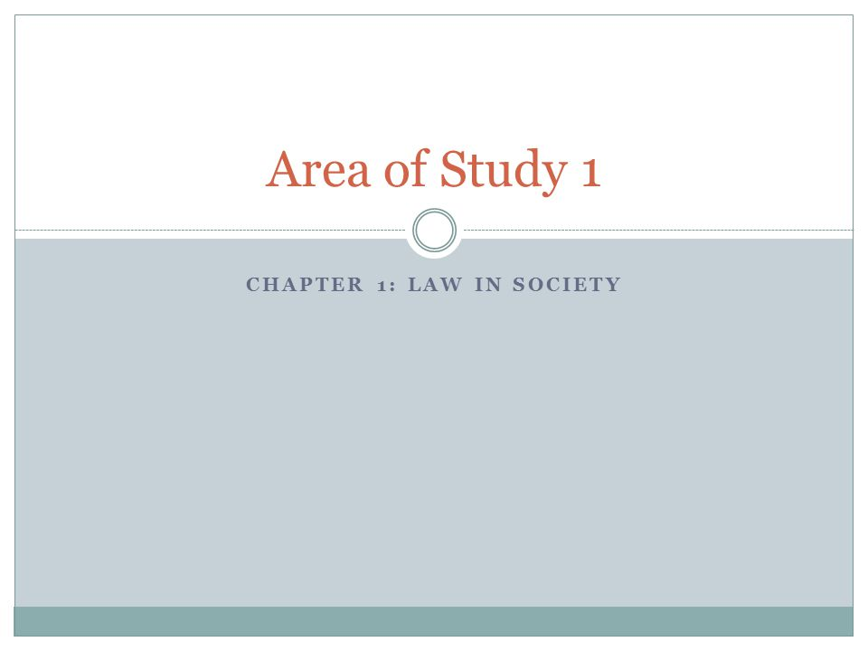 Chapter 1: Law in Society