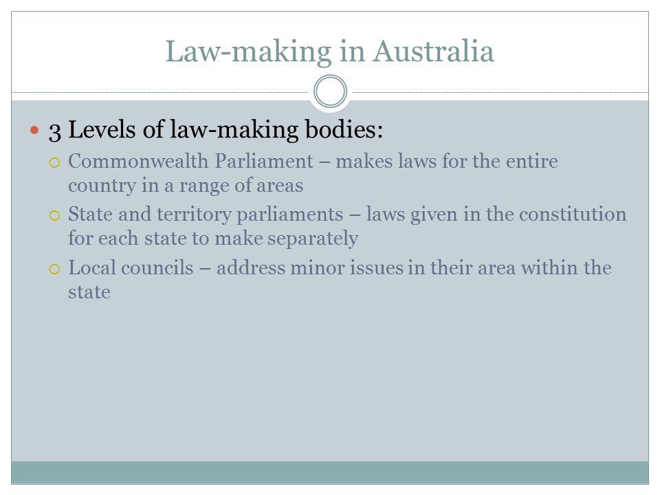 Law-making in Australia