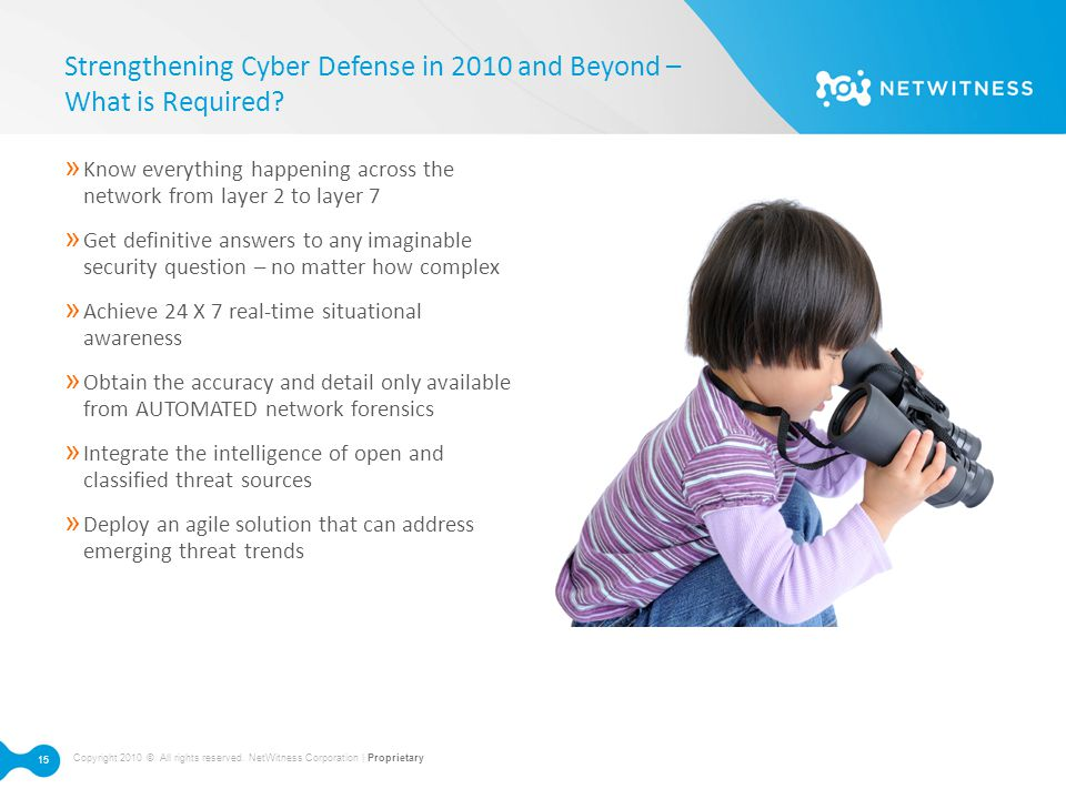Strengthening Cyber Defense in 2010 and Beyond – What is Required