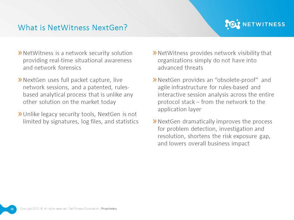 What is NetWitness NextGen