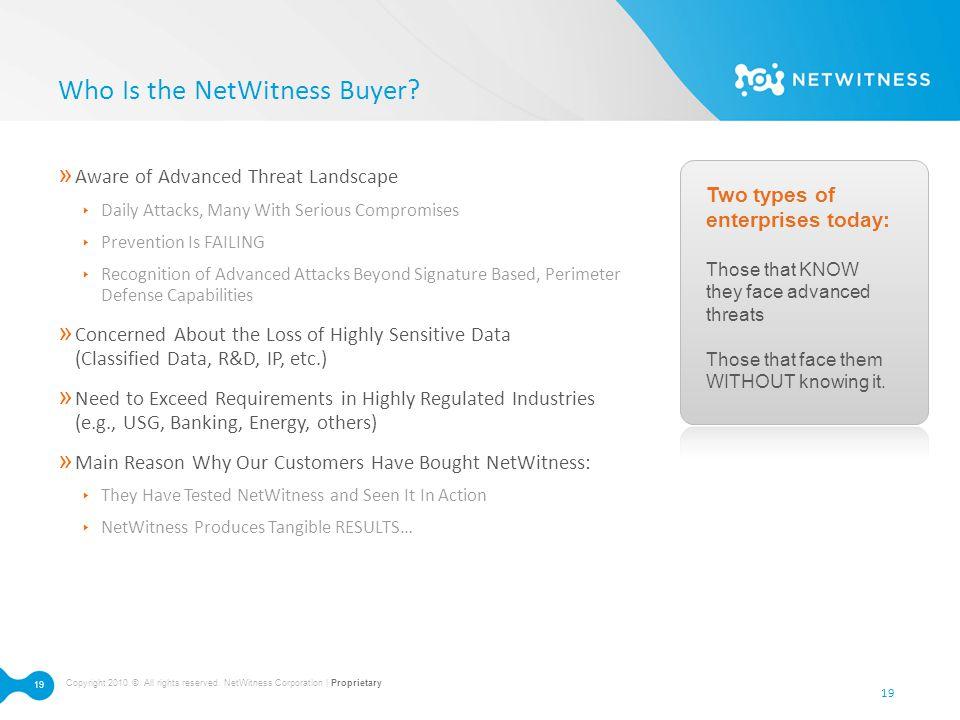Who Is the NetWitness Buyer