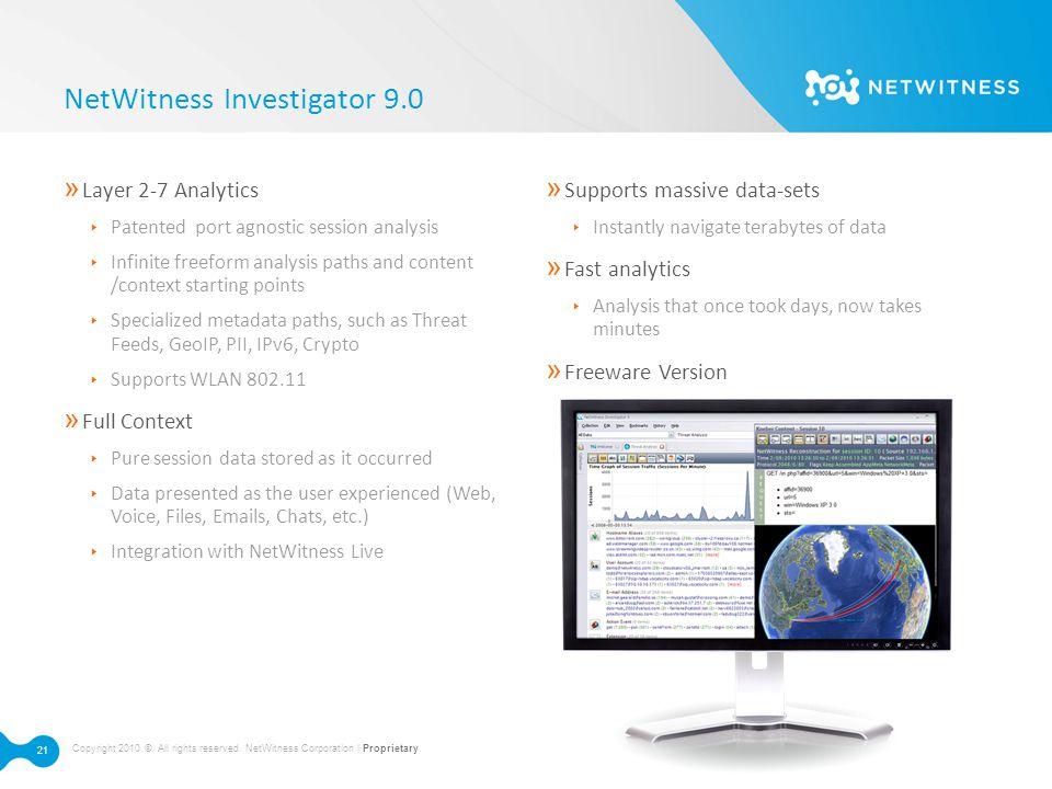 NetWitness Investigator 9.0