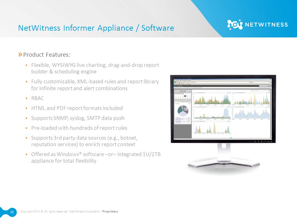 NetWitness Informer Appliance / Software
