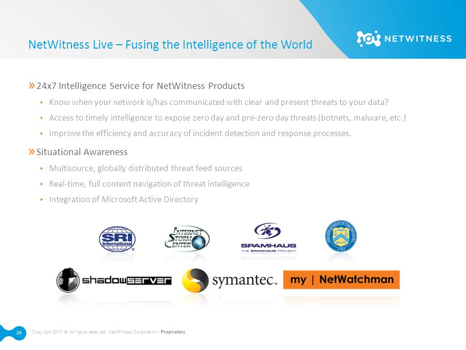 NetWitness Live – Fusing the Intelligence of the World