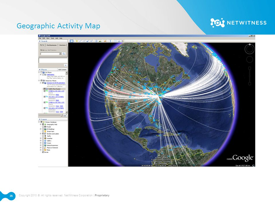 Geographic Activity Map