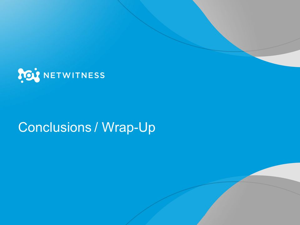 Conclusions / Wrap-Up