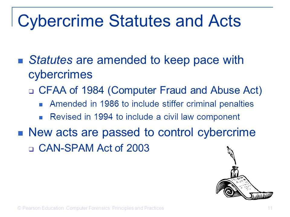 Cybercrime Statutes and Acts