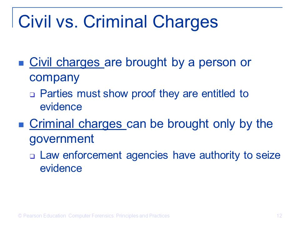 Civil vs. Criminal Charges