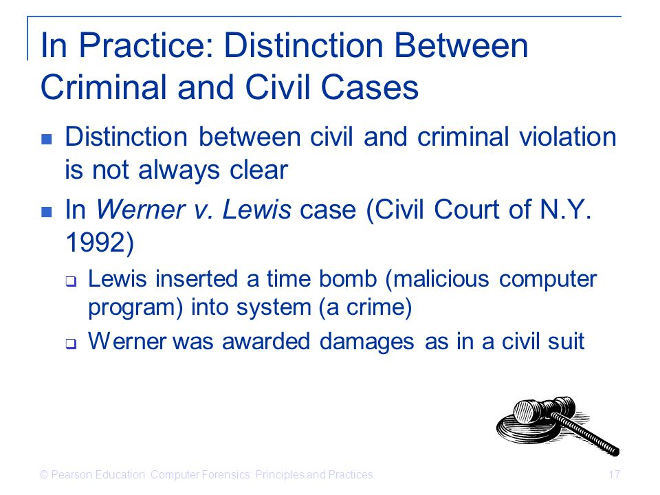 In Practice: Distinction Between Criminal and Civil Cases