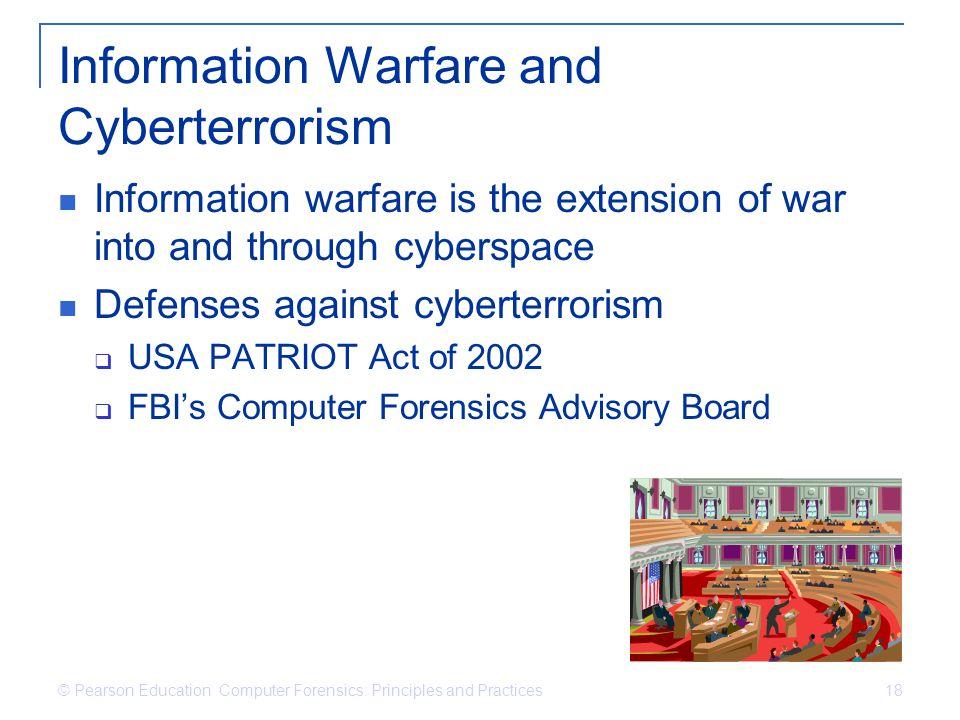 Information Warfare and Cyberterrorism