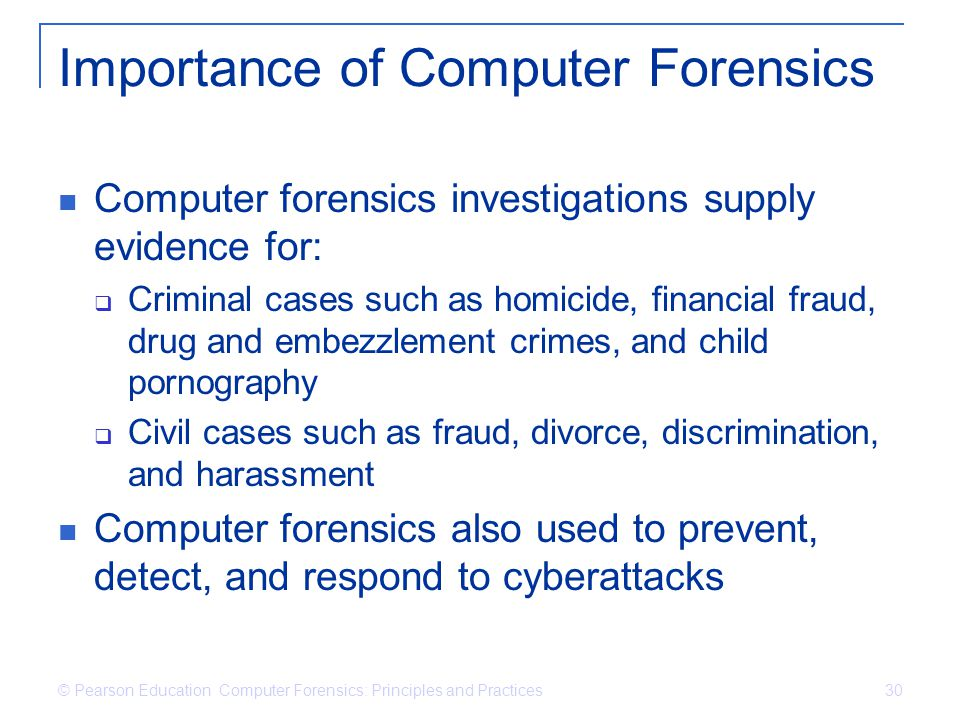 Importance of Computer Forensics