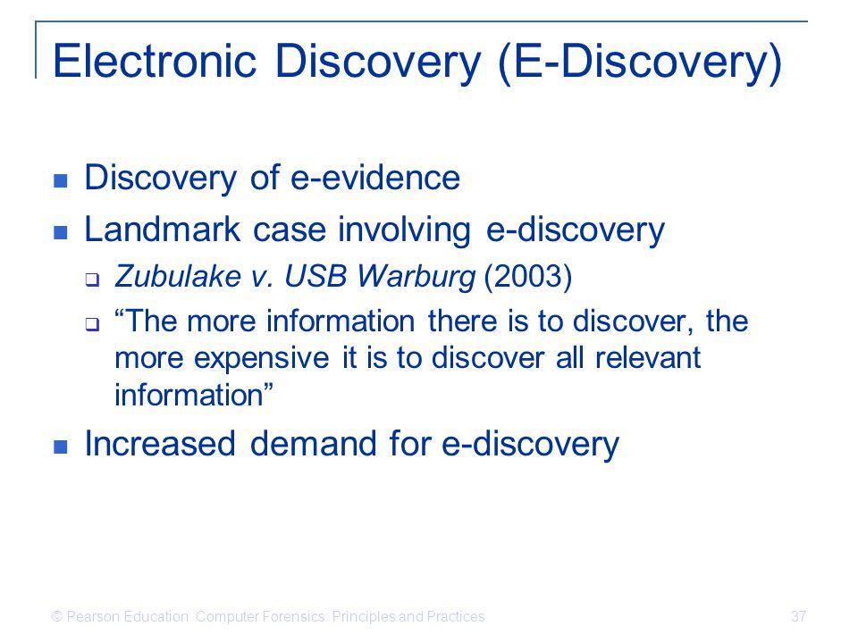 Electronic Discovery (E-Discovery)