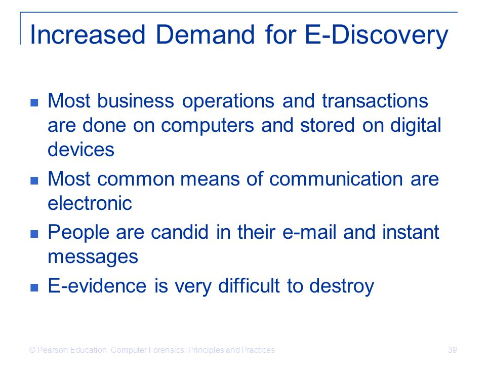 Increased Demand for E-Discovery