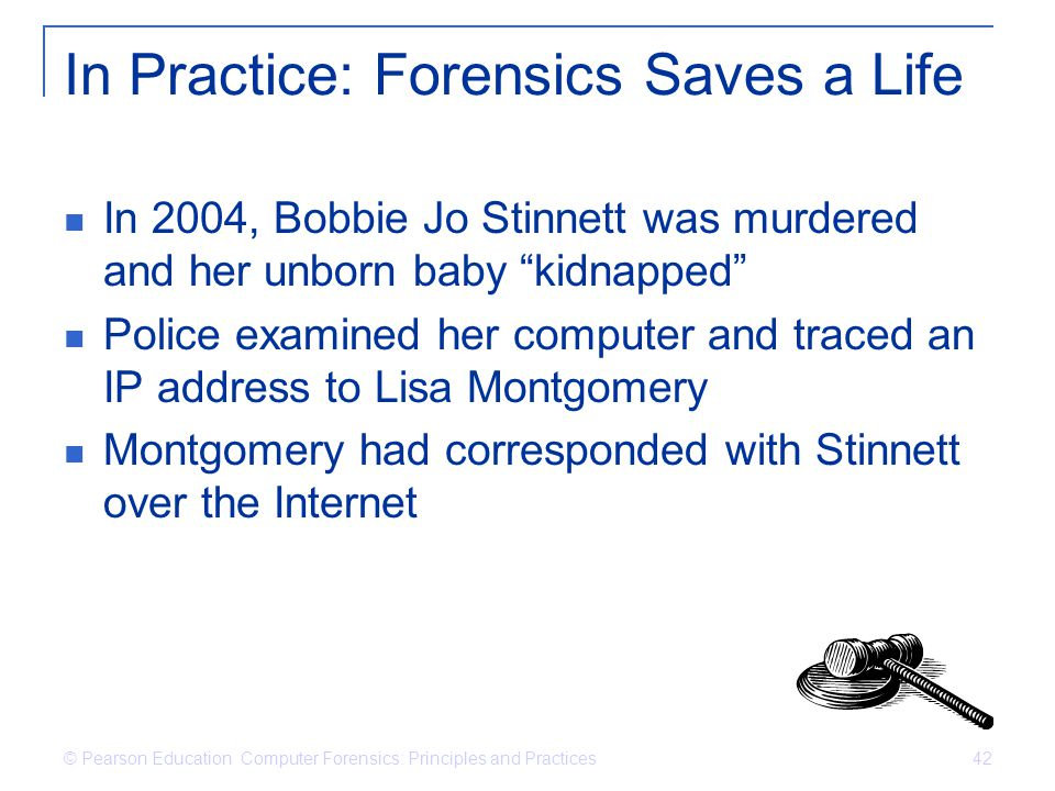 In Practice: Forensics Saves a Life