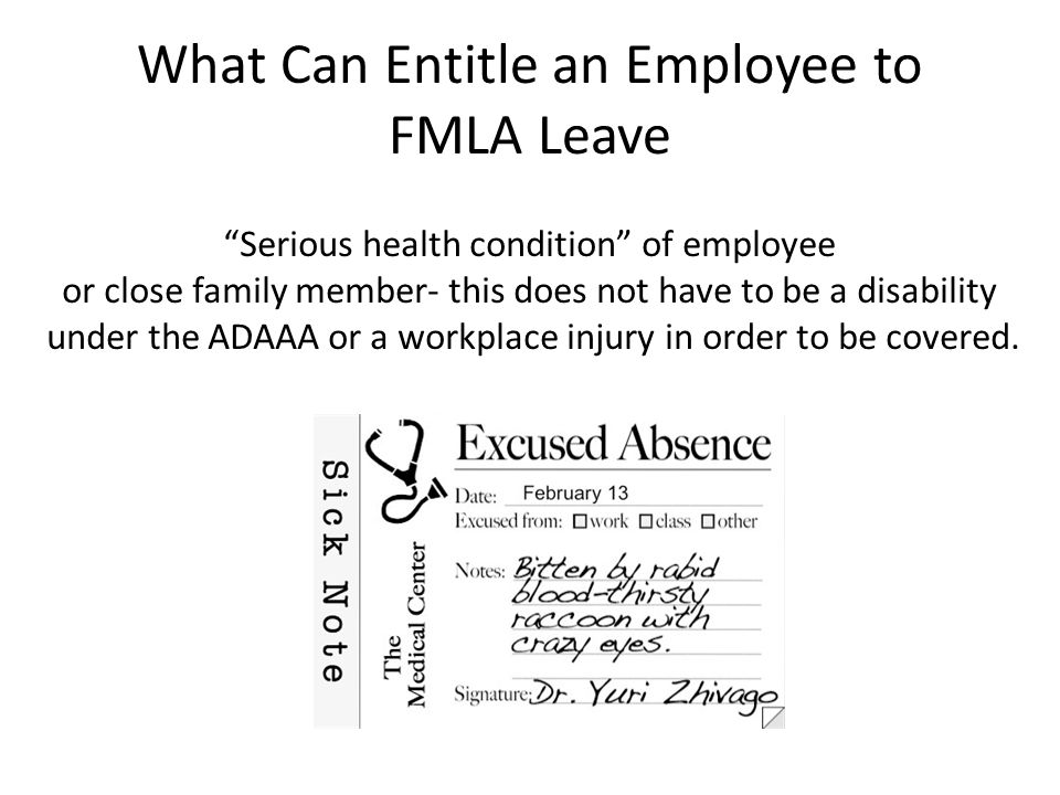 What Can Entitle an Employee to FMLA Leave
