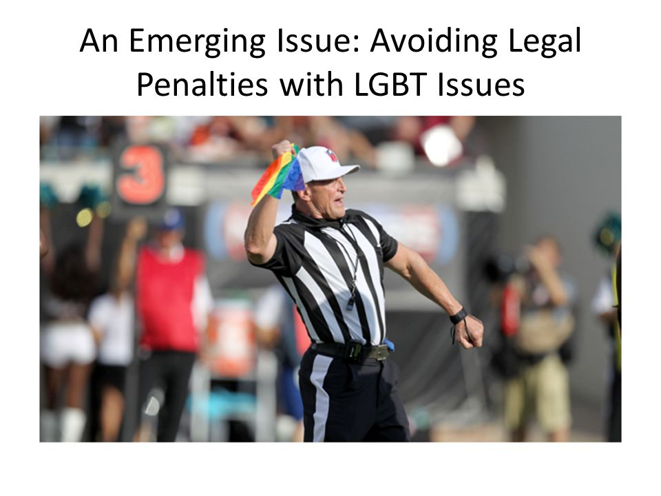 An Emerging Issue: Avoiding Legal Penalties with LGBT Issues