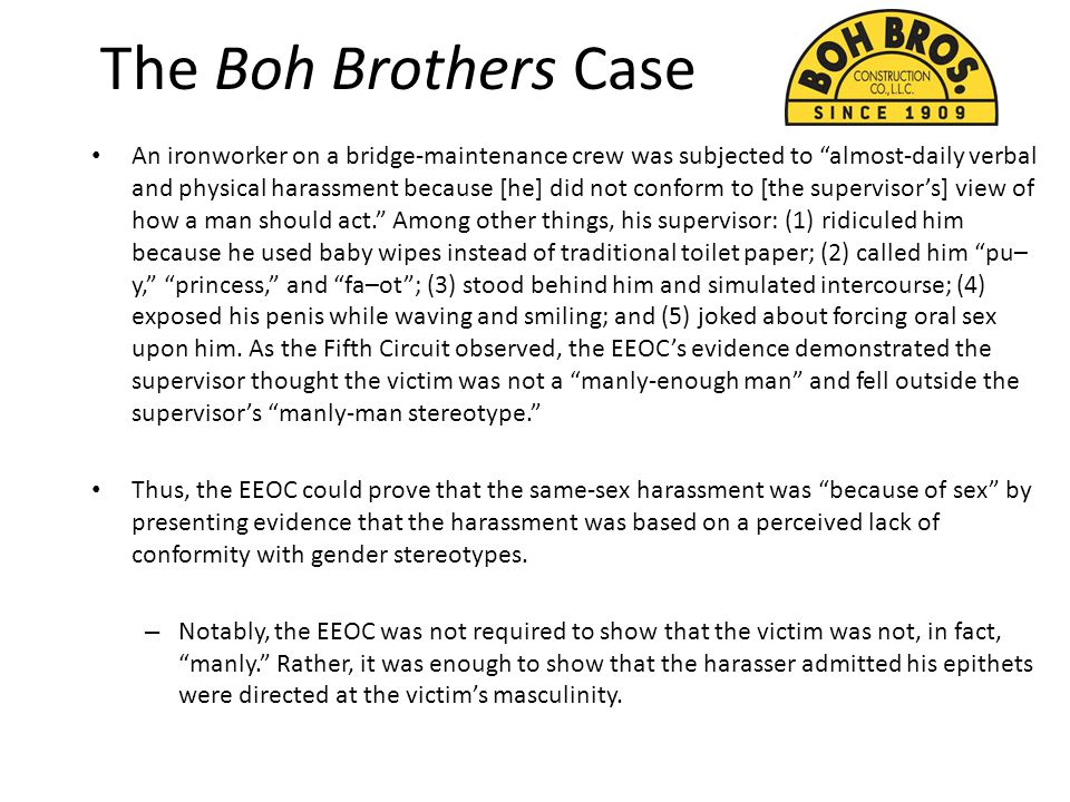 The Boh Brothers Case