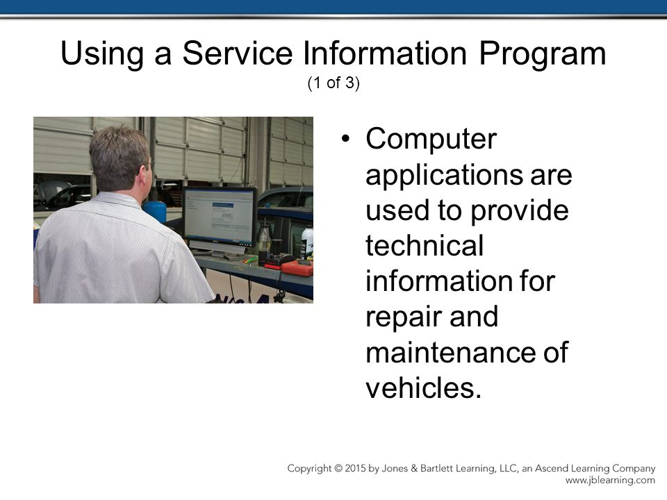 Using a Service Information Program (1 of 3)