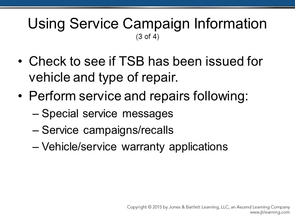 Using Service Campaign Information (3 of 4)