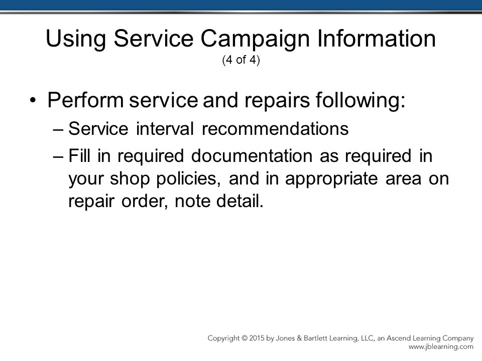 Using Service Campaign Information (4 of 4)